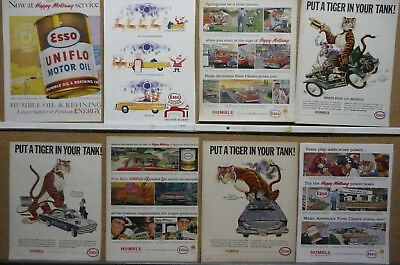 ESSO Oil and Gas Ad Lot (8) Print Ads