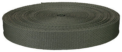 1 Inch Foliage Green Polypro Webbing Closeout, 100 Yards