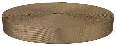7/8 Inch Beige Polyester Webbing Closeout, 20 Yards