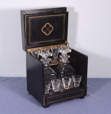 French 2nd Empire/Napoleon III Antique Liquor Cabinet/Tantalus