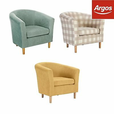Argos Home Molly Fabric Floral Tub Chair Choice Of Blue Red