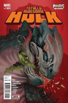 TOTALLY AWESOME HULK #1.MU, MONSTERS UNLEASHED, New, First print, Marvel (2017)