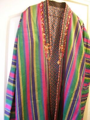 Afghanistan, Silk & Cotton Coat, 20Th Century, Good Condition