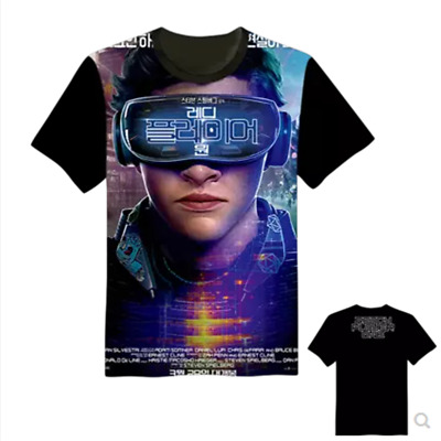 Ready Player One Movie The Oasis Unisex Black Printing T-Shirt New
