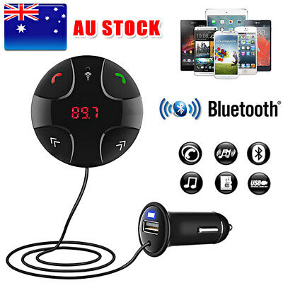 AU Wireless Bluetooth Car Kit FM Transmitter Radio MP3 Player USB Charger