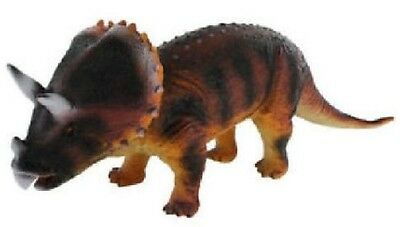 GIANT 36cm SOFT RUBBER TRICERATOPS DINOSAUR ACTION FIGURE TOY WITH SOUND