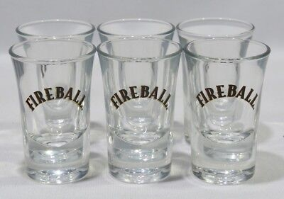 FIREBALL CINNAMON WHISKY 6 Verres shot  NEUF