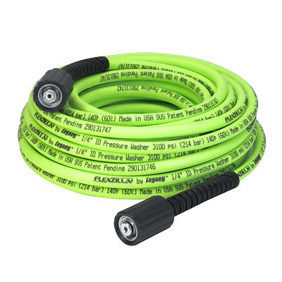 "Flexzilla 1/4"" x 50' 3100 PSI M22 Fittings No Kink Flexible Pressure Washer Hose"
