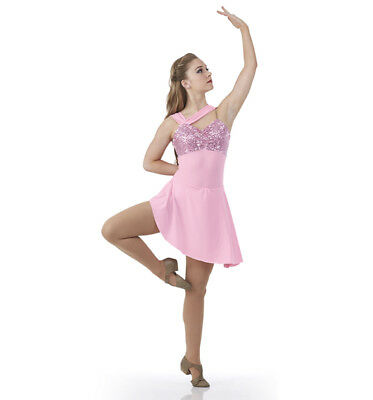Child Extra Large Lyrical Ballet Dance Costume Dress GIVE ME A REASON Pink New