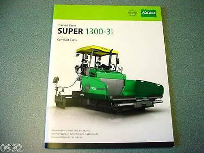 Vogele Super 1300-3i Tracked Paver Brochure