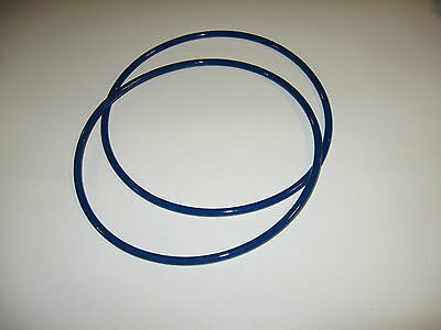 2 Blue Max  Round Drive Belts For Grizzly G1025 Wood Lathe -  Made In Usa
