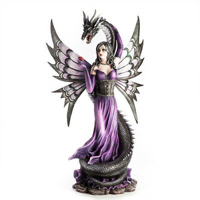 Fantasy Fairy Figurine Purple color With Black Serpent