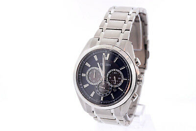 Men's Citizen CA4010-58L Eco-Drive Chronograph Titanium Blue Dial Date Watch