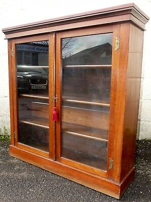 Victorian Bookcase With Key