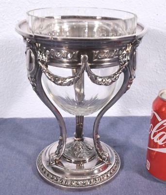 Silver Plate and Cut Glass Ice Bucket/Centerpiece/Bowl by Christofle