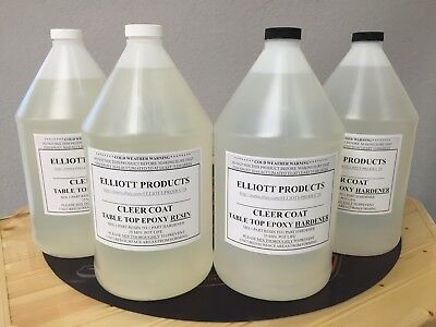 4 gals, TABLE TOP EPOXY RESIN , CRYSTAL CLEAR, HIGH GLOSS, ($39.20/gal) $156.94