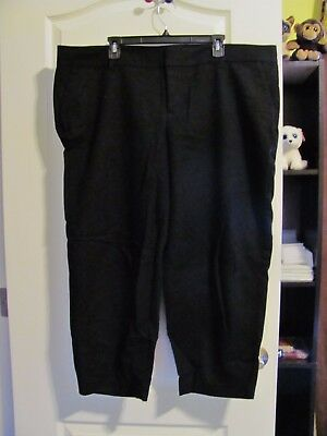 Old Navy Harper Mid Rise Black Slacks, 22 Plus Regular, Waist 46, Inseam 25