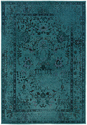 6x9 Sphinx Washed Persian Casual Teal 550h2 Area Rug