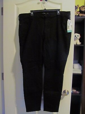 Old Navy Rockstar Black Slacks, 20 Regular, Waist 42, Inseam 29
