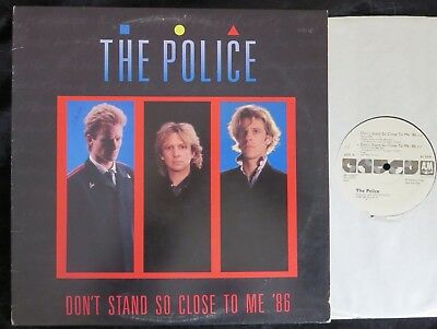 POLICE, Don't Stand So Close to Me '86 [remixes] PROMO USA PS 12 inch single