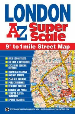London Super Scale Map by Geographers A-Z Map Co. Ltd. 9781782570394