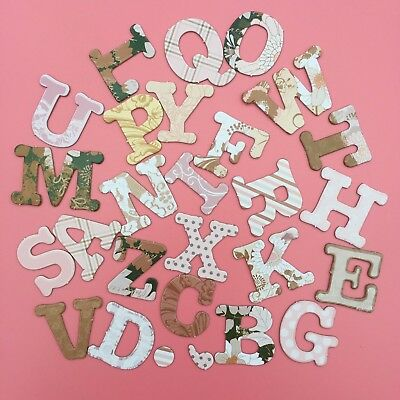 28 PIECES Vintage Style Chipboard Alphabet Letters Cardmaking Craft Scrapbooking