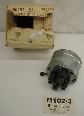Marcon Blum Minipress Conversion Gearbox Grass Insertion Hinge Bore 90851