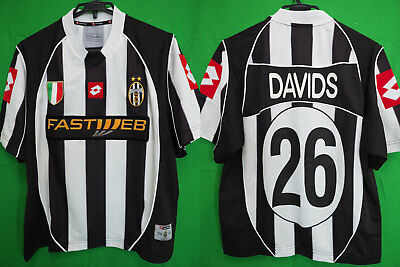 new products 31247 18bd5 2002-2003 JUVENTUS JUVE Jersey Shirt Maglia Home FASTWEB Lotto Davids #26 M