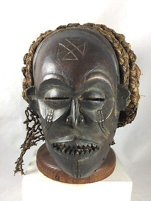 Chokwe Ceremonial MWANO PWO Mask Female Angola, Africa Excellent!