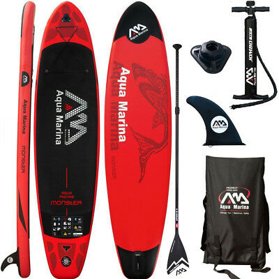 Aqua Marina Monster 2018 Stand Up Paddle Board Inflatable Paddel Pumpe Sup Isup