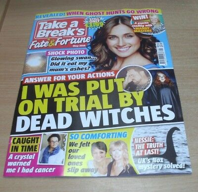 Take a Break's Fate & Fortune magazine MAY 2018 Spooky Real-Life