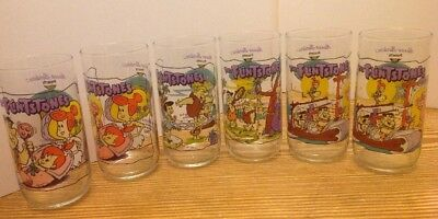 """Complete """"THE FLINSTONES"""" First 30 Years HARDEES Glasses 1991, Plus 2! MINT"""
