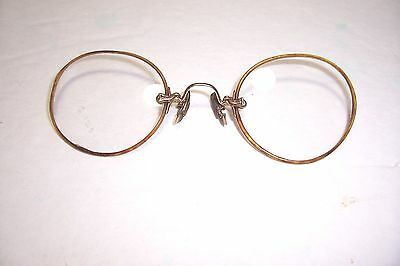 Antique Vintage Shur-On 1/10 12K Gold Filled Spectacles Clip On Tortise Shell