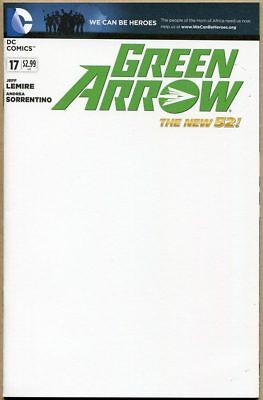 Green Arrow #17 - NM - Sketchable Cover - New 52