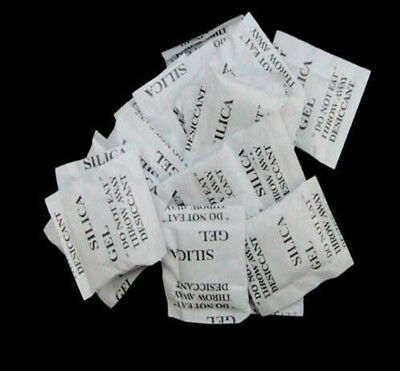 Lot 100/500pcs 1g Packets of Silica Gel Sachets Desiccant Pouches Granules @#8sd