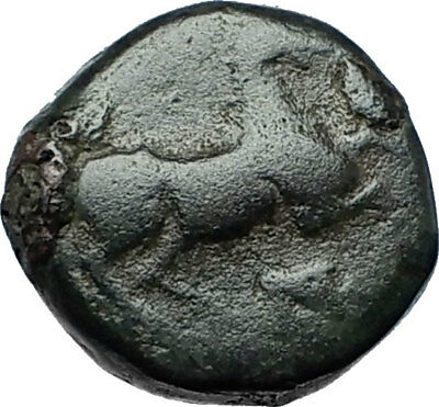 MARONEIA Thrace 400BC Authentic Ancient Greek Coin w HORSE & WINE GRAPES i68465