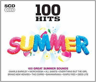 100 GREATEST HITS SUMMER  NEW SEALED 5CD SET 1960's 1970's 1980's 1990's Etc