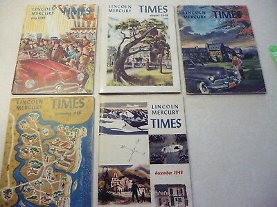 Lincoln - Mercury Times Small Version 5 issues from July - December 1948