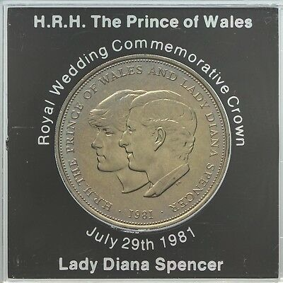 1981 Prince of Wales & Lady Diana Spencer commemorative crown  UNCIRCULATED