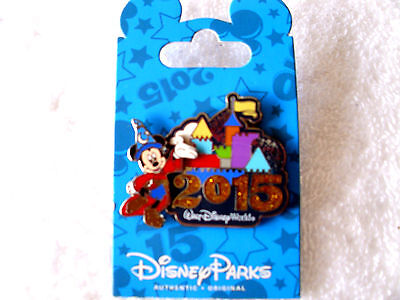 Disney * 2015 Dated - SORCERER MICKEY * New on Card WDW Trading Pin