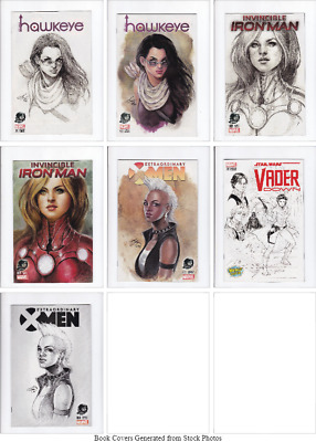 Searchlight Comics Marvel Female Hero Cover Phantom Variant Comics 7 Book Bundle