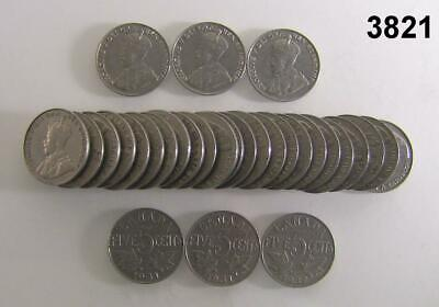 1930-1934 Dated 30 Coin Lot Canada Nickels! #3821