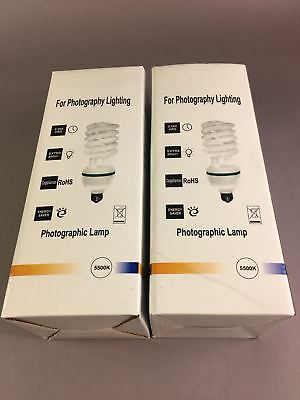 2x E27 Photography Photo Studio Lamp Bulbs