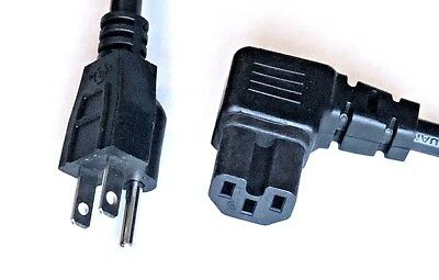 Power Cord, Right Angle right Angle 8 feet 5-15P - C15 8 feet Notched