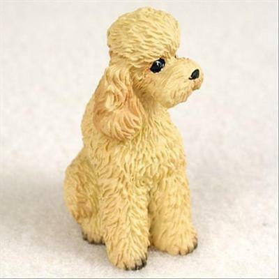 Poodle Apricot Sport Cut Dog Tiny One Miniature Small Hand Painted Figurine