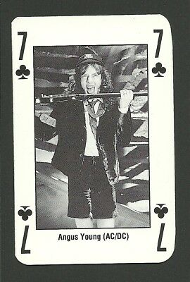 Angus Young - AC DC - Rock Music Playing Card