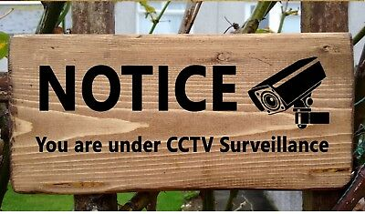 CCTV Sign Camera Security System Outdoor Wall Plaque Home Cam Surveillance Door