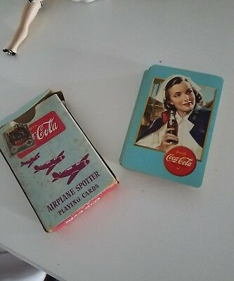 Vintage Coca Cola Airplane Spotter Playing Cards (Complete) - 1943