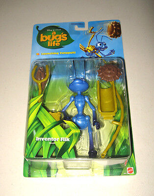 "Disney Pixar Bug's Life ""inventor Flik"" Launching Catapult  Action Figure New**"