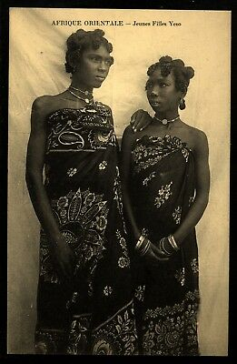 East Africa Afrique Orientale 2 young local beauties in costumes